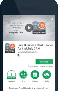 How to use your phone to scan business cards into insightly crm 1 install the business card reader for insightly crm create an account colourmoves