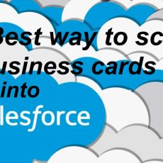 Best way to scan business cards into Salesforce CRM